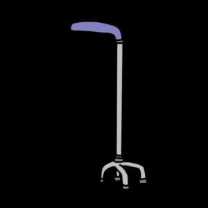 四点杖のイラスト