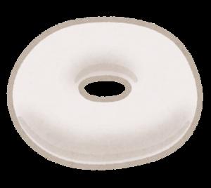 ドーナツ型クッションのイラスト