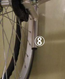 車椅子のティッピングレバーの写真