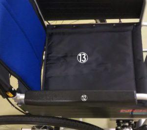 車椅子のシートやアームレストの写真